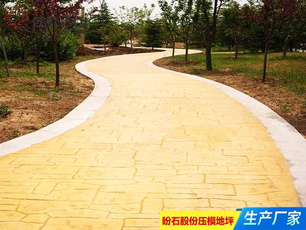 南昌新建县艺术压花地坪施工工程